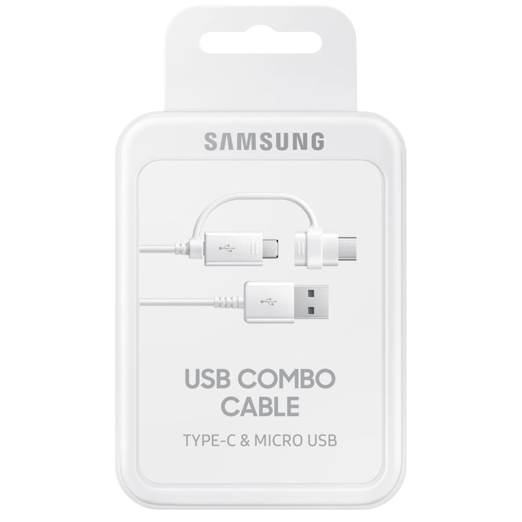 Samsung USB-Kabel »Datenkabel Micro-USB zu USB-A inkl USB-C Adapter«, USB Typ A-USB-C, Micro-USB, 150 cm, Datenkabel