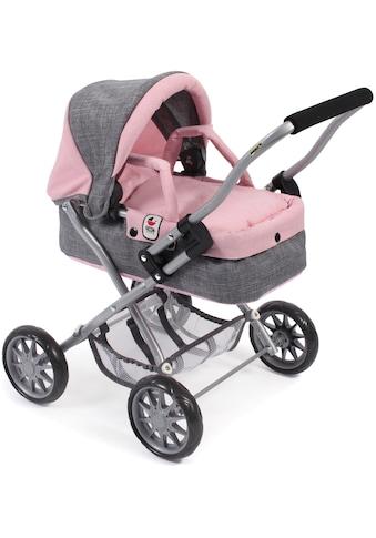 CHIC2000 Puppenwagen »Mini-Kuschelwagen Smarty, grau-rosa«, mit herausnehmbarer... kaufen