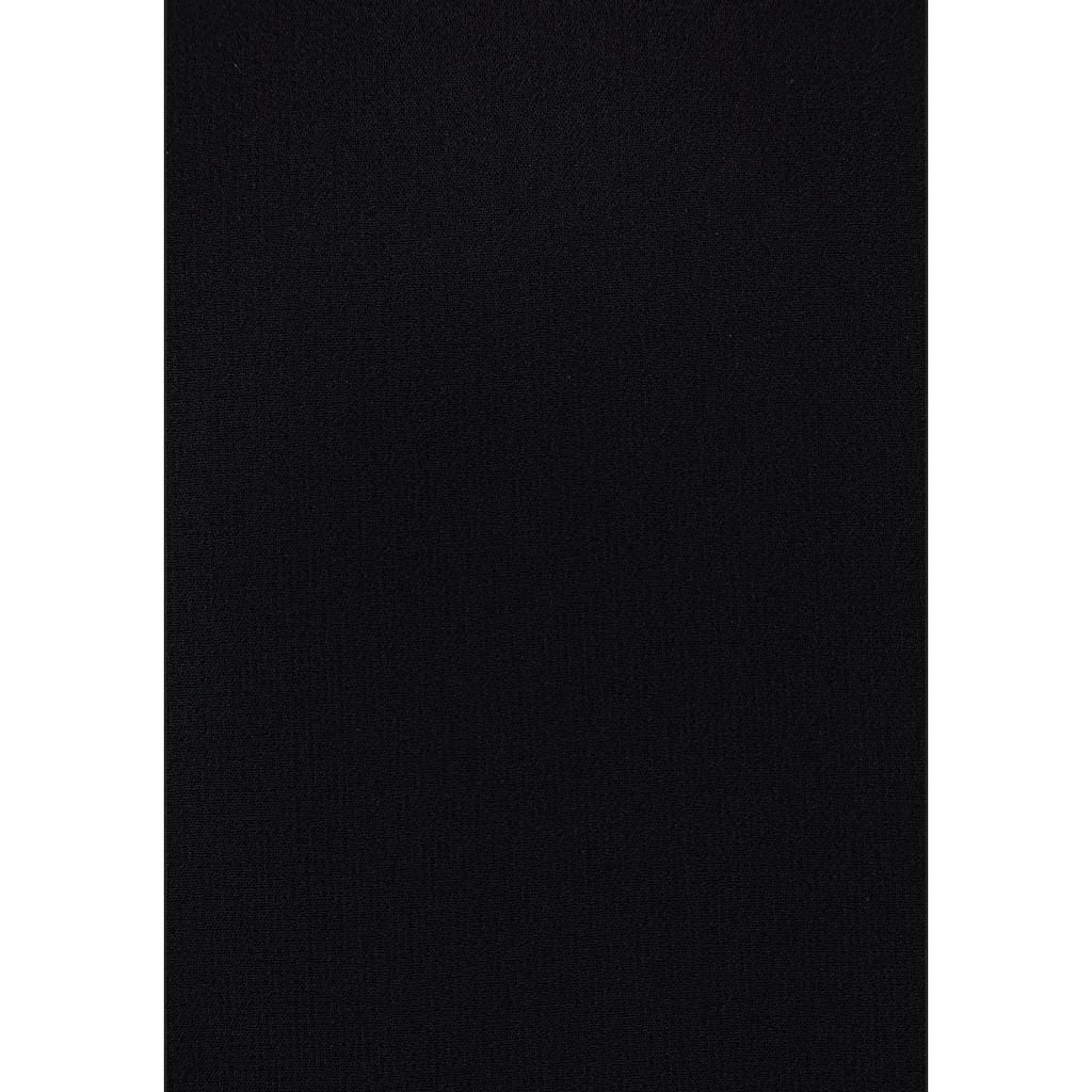 Daniel Hechter Chiffonkleid, mit kleiner Rüschenkante vorn