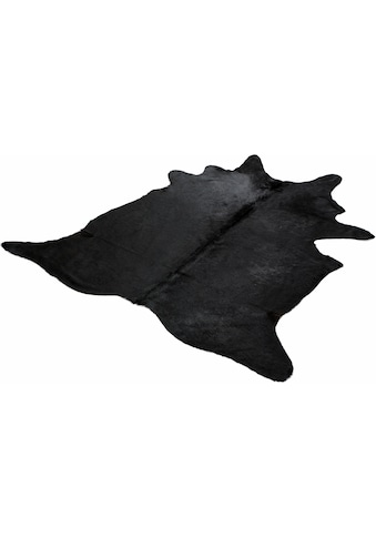 Böing Carpet Fellteppich »Fell schwarz«, fellförmig, 4 mm Höhe, echtes Rinderfell,... kaufen