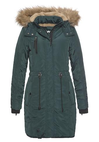 ALPENBLITZ Parka »Wintercharme«, mit kuschelig gefütterter Kapuze und abnehmbaren Kunstfell an der Kante kaufen