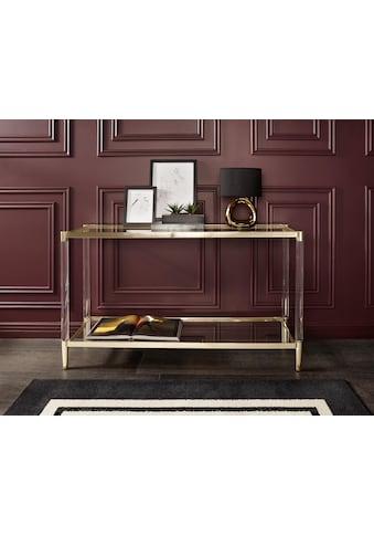 Leonique Beistelltisch »Ceadda«, Konsolentisch mit Glasbeinen und einer Glastischplatte, Breite 130 cm kaufen