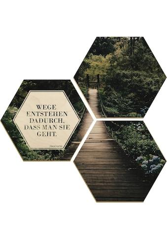 Wall-Art Holzbild »Wege entstehen dadurch, dass man sie geht«, (Set) kaufen