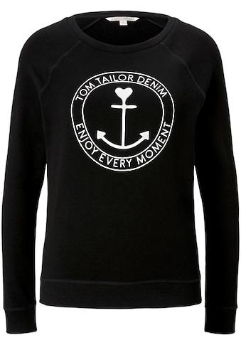 TOM TAILOR Denim Sweatshirt, mit Anker-Motiv Print kaufen