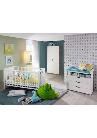 Babyzimmer-Komplettset »Bristol«, (Spar-Set, 3 tlg.), Bett + Wickelkommode + 2 trg. Schrank kaufen