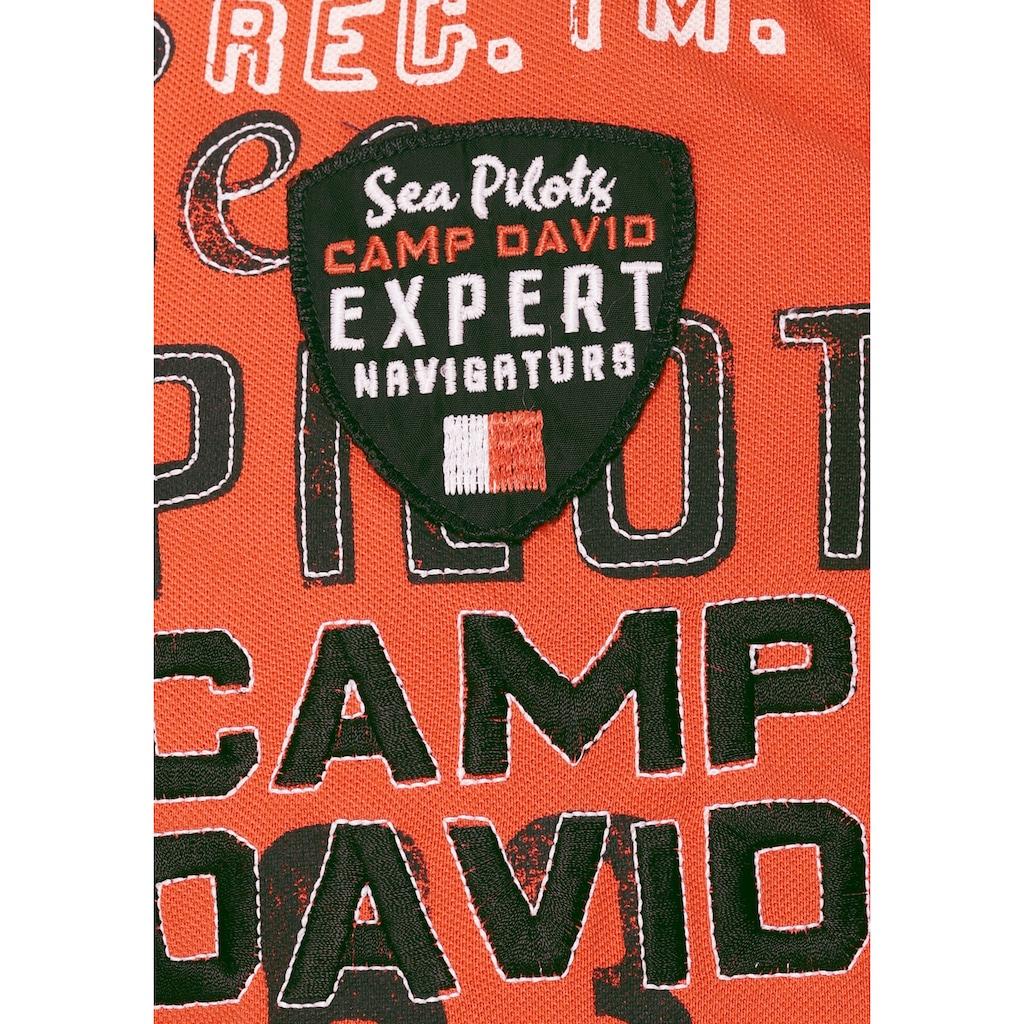 CAMP DAVID Poloshirt, mit markanten Prints