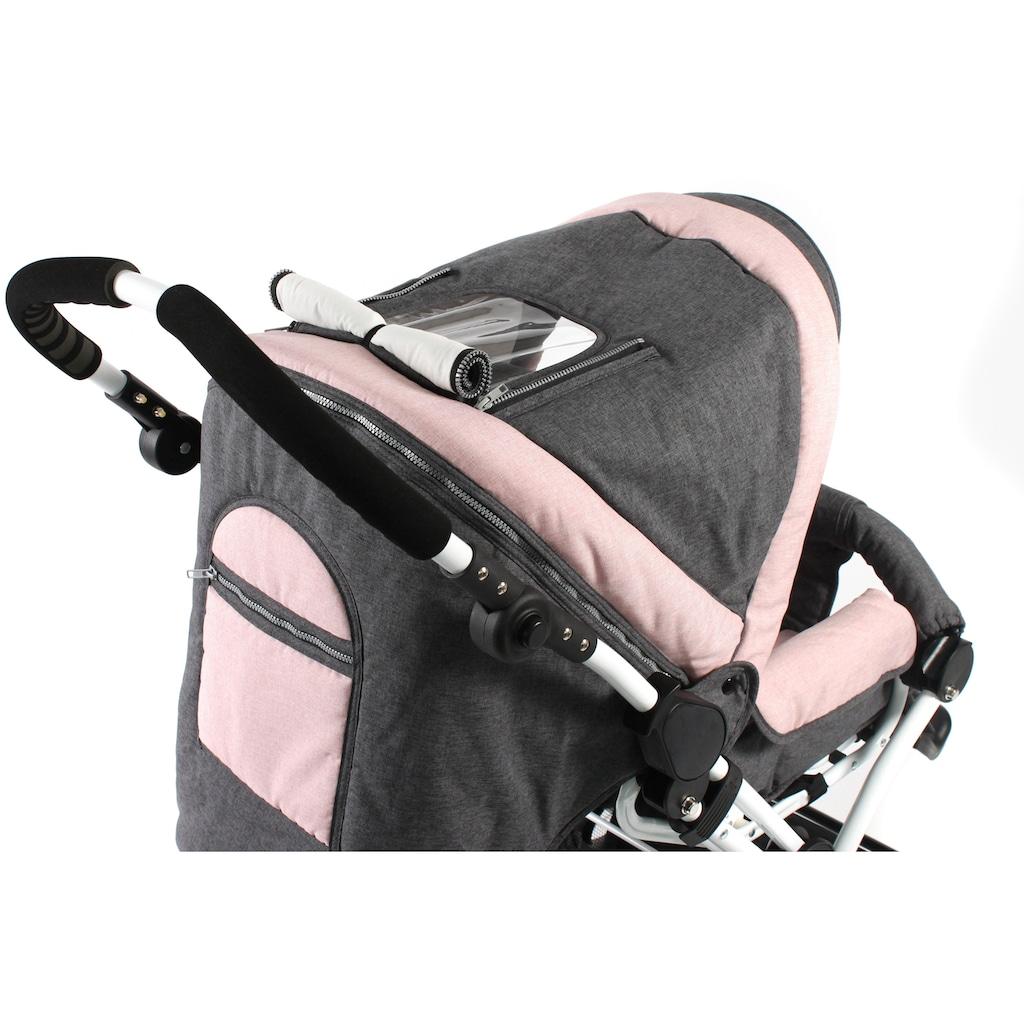 CHIC4BABY Kombi-Kinderwagen »Viva, Melange Rosa«, 15 kg