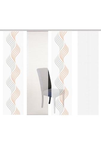 HOME WOHNIDEEN Schiebegardine »FELSIA 4er«, HxB: 245x60, 4er Set kaufen