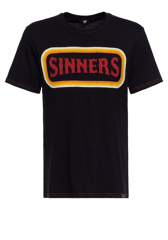 KingKerosin Print-Shirt »SINNERS f**k all«, mit farbigen Absteppungen kaufen