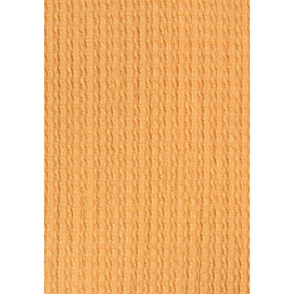 LASCANA Langarmshirt, aus strukturierter Ware