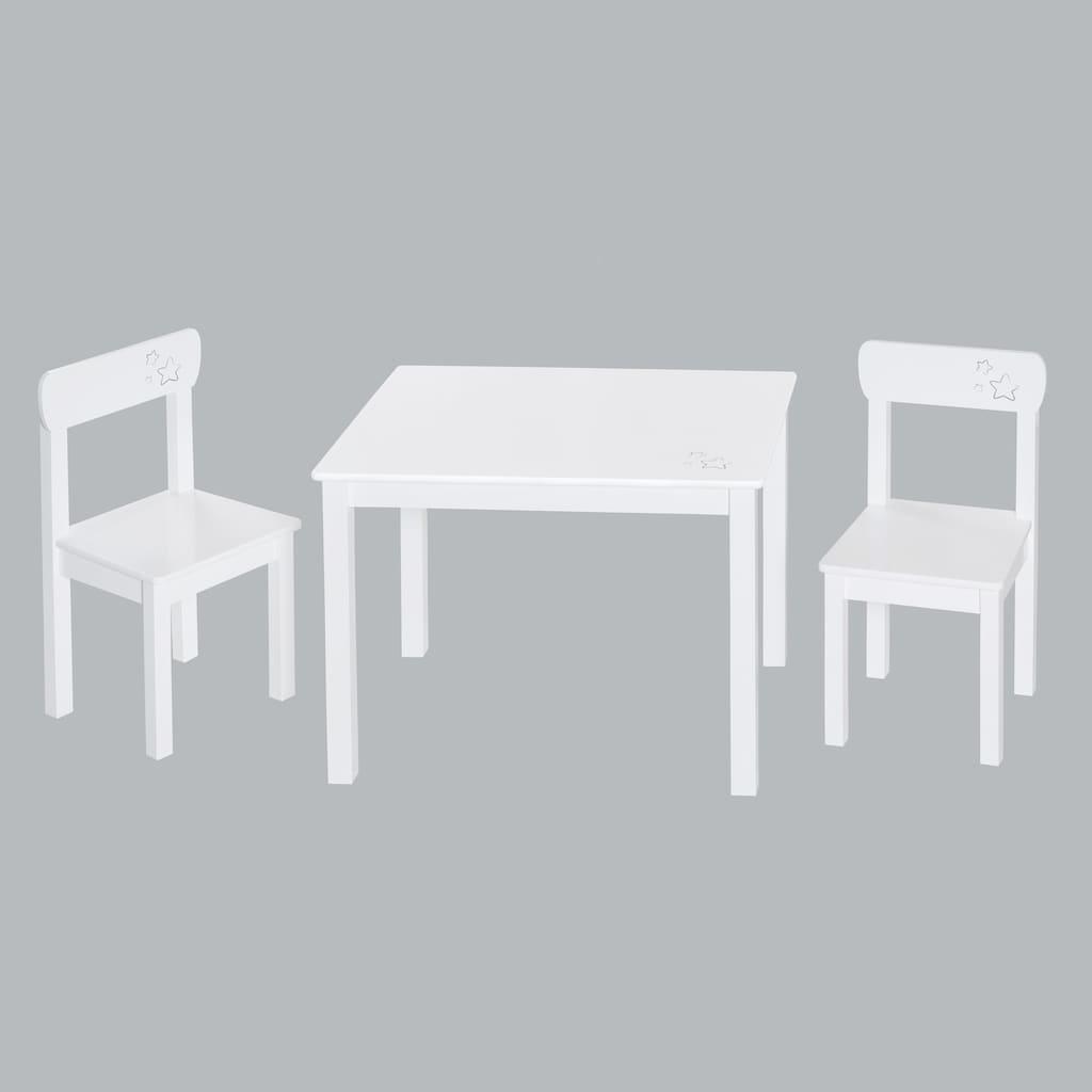 roba® Kindersitzgruppe »Weiß«, (3 tlg.)