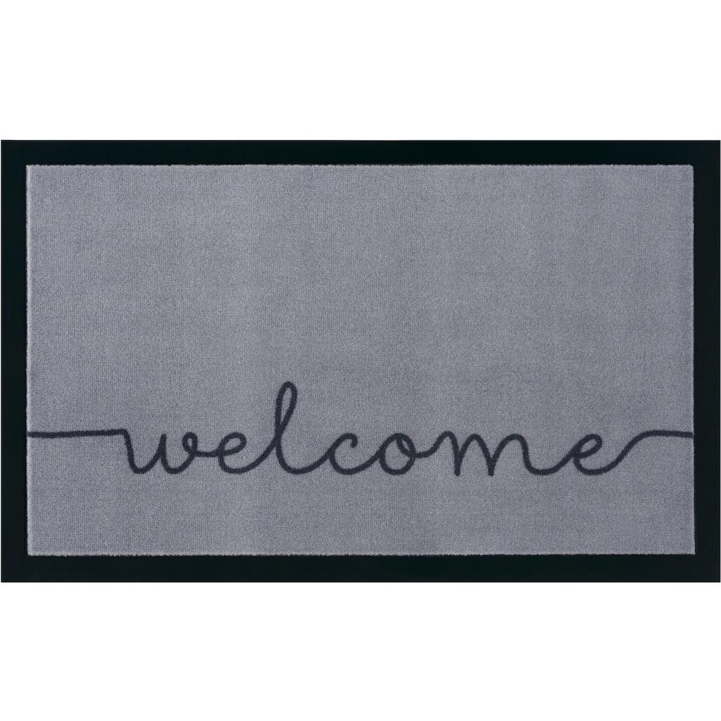 HANSE Home Fußmatte »Cozy Welcome«, rechteckig, 5 mm Höhe, Fussabstreifer, Fussabtreter, Schmutzfangläufer, Schmutzfangmatte, Schmutzfangteppich, Schmutzmatte, Türmatte, Türvorleger, mit Spruch, In- und Outdoor geeignet, waschbar