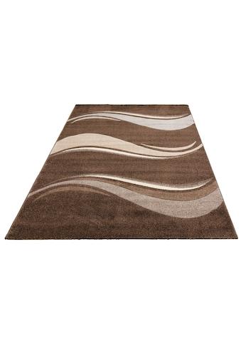 my home Teppich »Sorana«, rechteckig, 14 mm Höhe, Handgearbeiteter Konturenschnitt,... kaufen