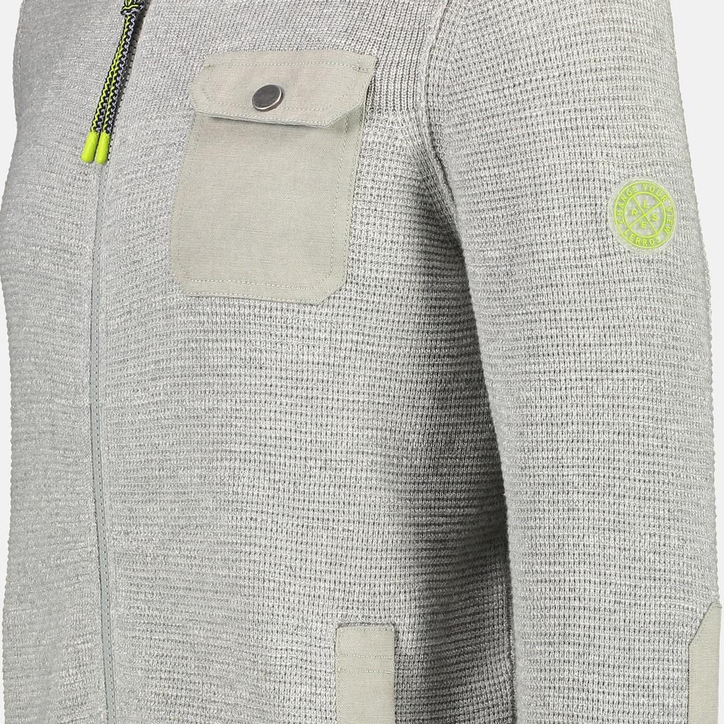 LERROS Strickjacke, in Melangeoptik mit aufgesetzter Brusttasche