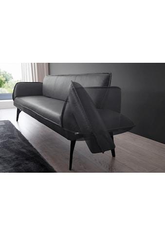 K+W Komfort & Wohnen Polsterbank »Drive«, mit Seitenteilverstellung zur Sitzplatzerweiterung, wahlweise in 218 oder 238 cm Breite in Leder oder Flachgewebe kaufen