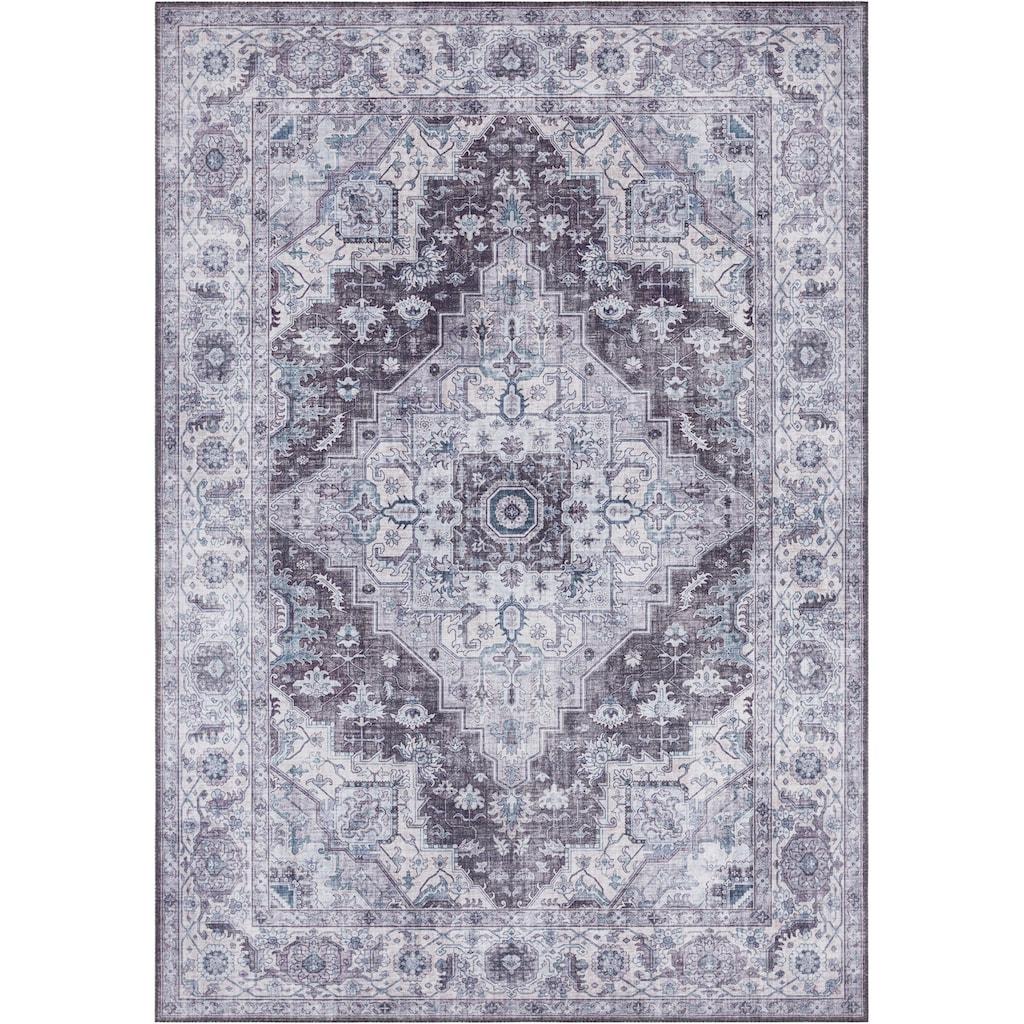 NOURISTAN Teppich »Sylla«, rechteckig, 5 mm Höhe, Vintage Design, Orient-Optik, Wohnzimmer