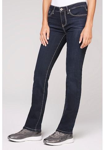SOCCX Straight-Jeans, mit hellen Steppungen kaufen