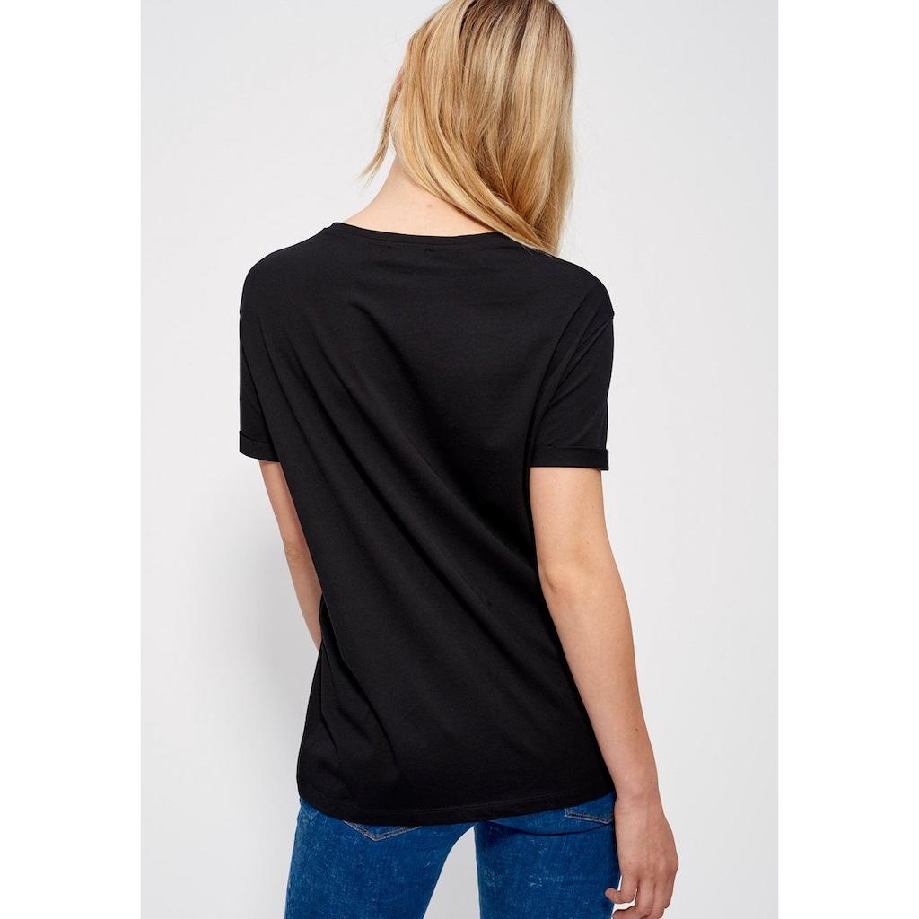 Mexx T-Shirt, mit Ärmelaufschlag