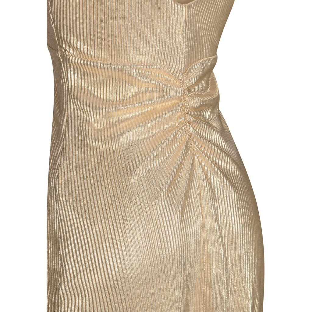 Nicowa Elegantes Abendkleid ALISELA mit metalischer Optik
