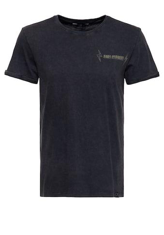 KingKerosin Print-Shirt »Never f*ck a f*cker«, Acid Wash mit rockigem Backprint kaufen