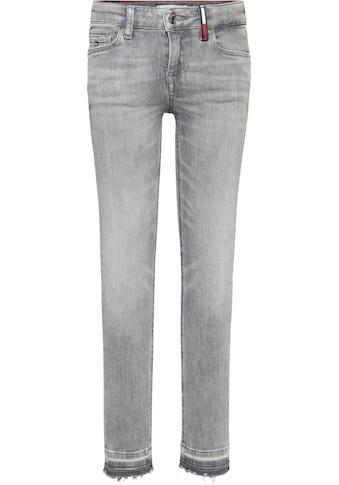 TOMMY HILFIGER Stretch-Jeans »NORA SKINNY«, mit modisch offenem Saum kaufen