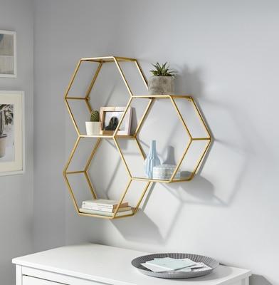 goldfarbenes Wandkonsole als Deko