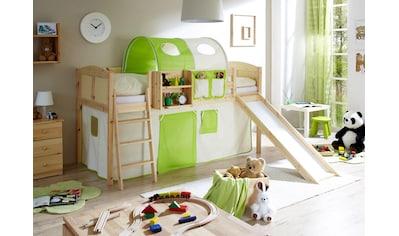 Ticaa Jugendzimmer-Set »Ekki«, mit Rutsche und Textil-Set, Kiefer massiv natur lackiert kaufen