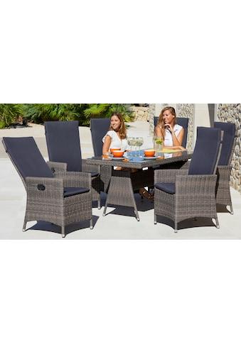MERXX Diningset »Ravello«, 13 - tlg., 6x Sessel, Tisch 80x150 cm, inkl. Auflagen kaufen