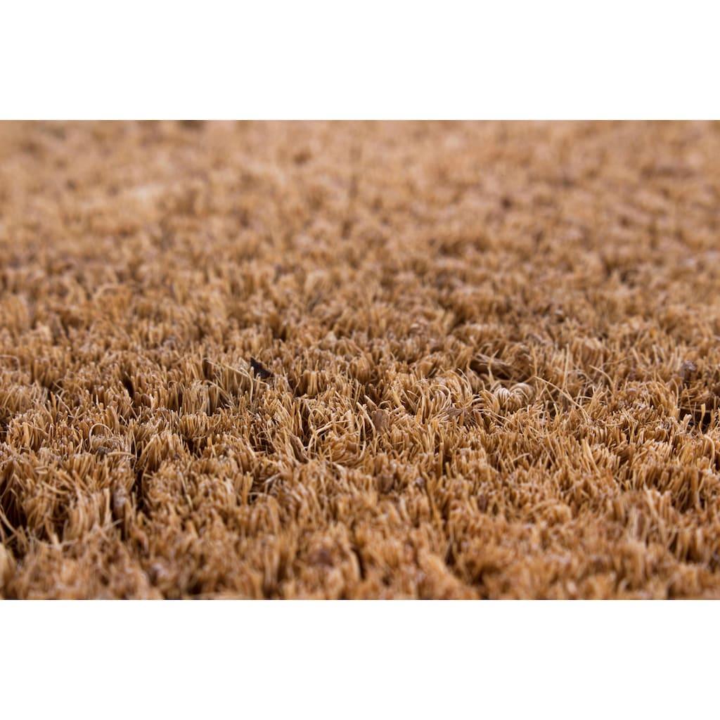 Andiamo Fußmatte »Kokos uni«, rechteckig, 15 mm Höhe, Fussabstreifer, Fussabtreter, Schmutzfangläufer, Schmutzfangmatte, Schmutzfangteppich, Schmutzmatte, Türmatte, Türvorleger, Kokosmatte, In- und Outdoor geeignet