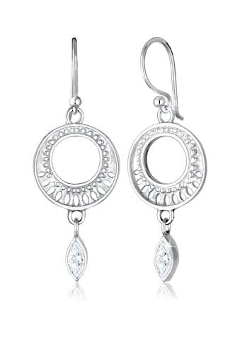 Elli Paar Ohrhänger »Ornament Zirkonia Marquise 925 Sterling Silber« kaufen