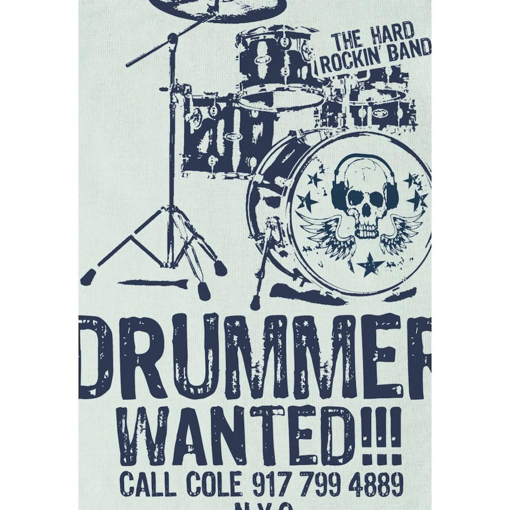 LOGOSHIRT Body mit Drummer Wanted-Frontdruck