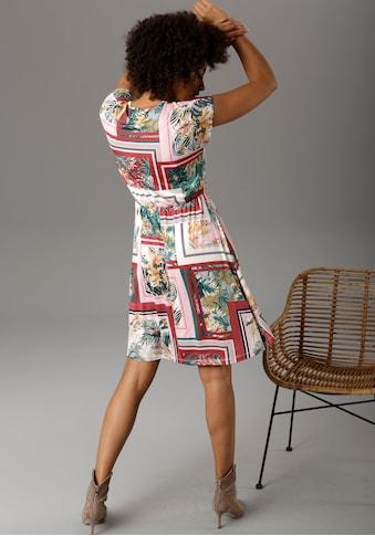 Aniston CASUAL Sommerkleid, mit exotischem Patch-Druck - NEUE KOLLEKTION kaufen