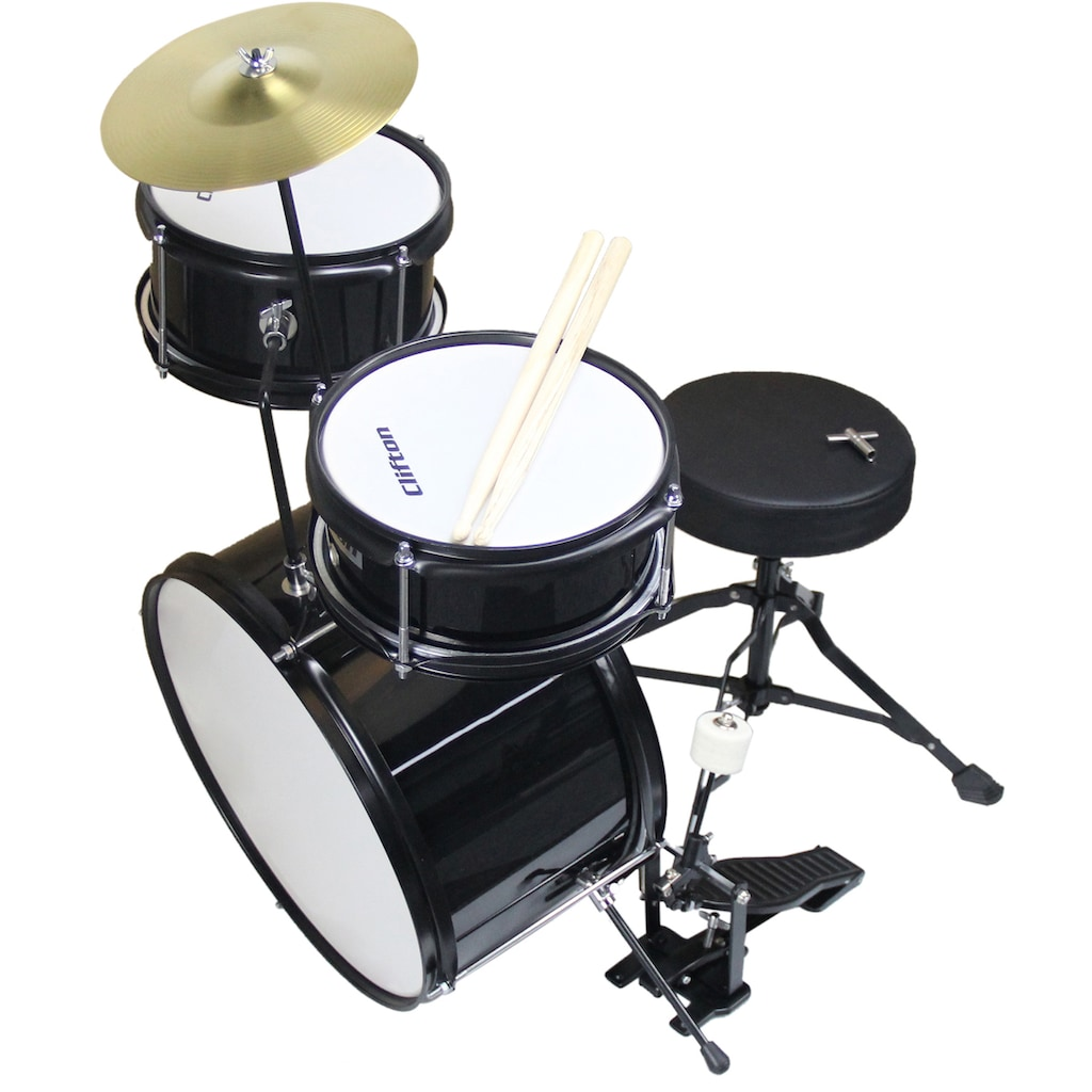 Clifton Kinderschlagzeug »Junior Drum, schwarz«