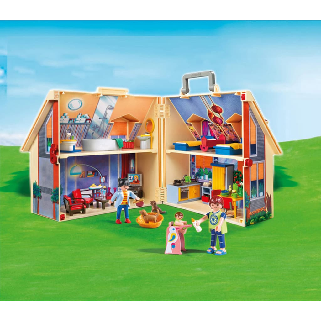 Playmobil® Konstruktions-Spielset »Neues Mitnehm-Puppenhaus (5167), Dollhouse«, Made in Europe