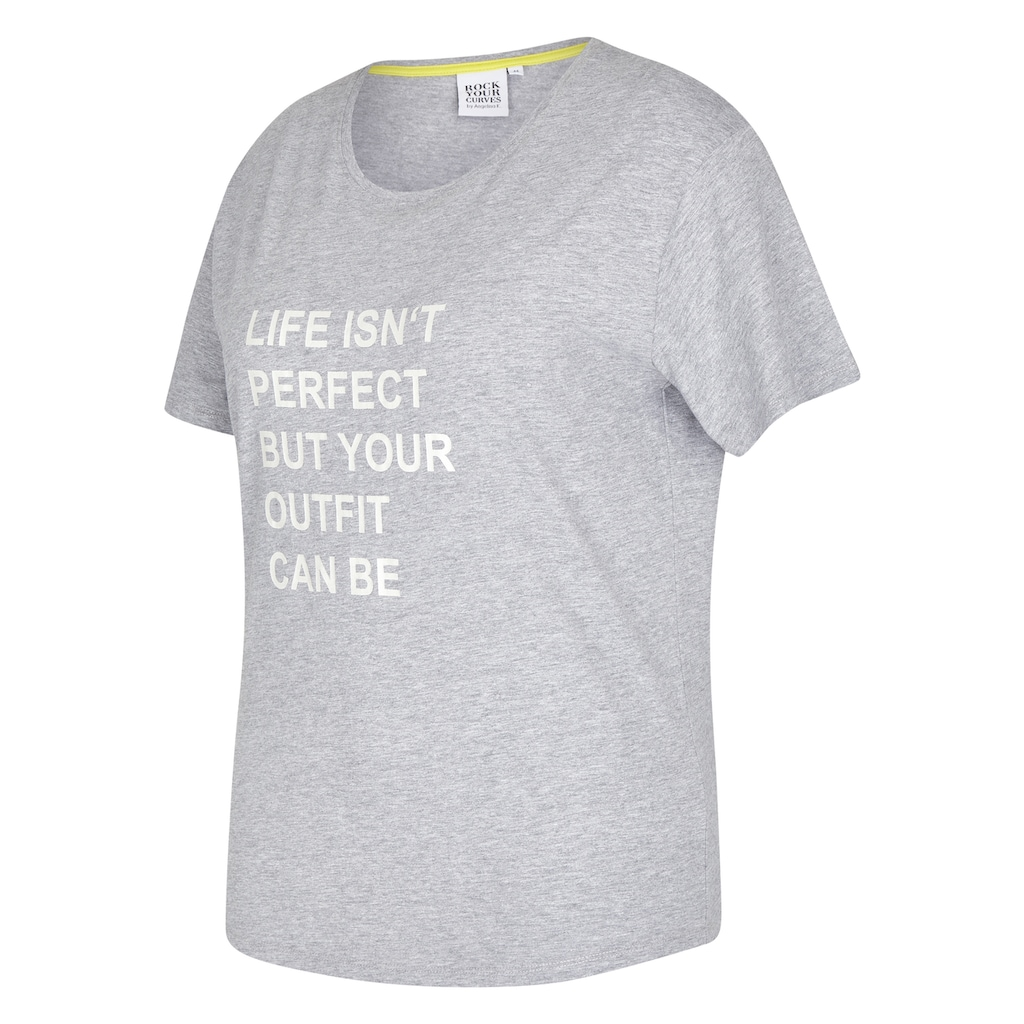 Rock Your Curves by Angelina K. Statement-Print T-Shirt Perfect