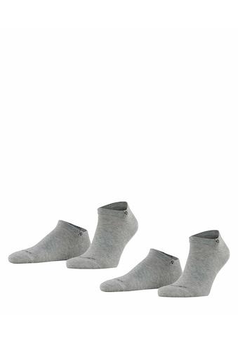 Burlington Sneakersocken »Everyday 2-Pack«, (2 Paar), aus weicher gekämmter Baumwolle kaufen