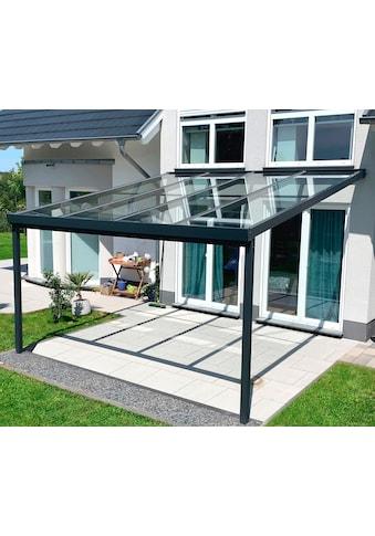 GUTTA Terrassendach »Premium«, BxT: 410x406 cm, Dach Sicherheitsglas klar kaufen