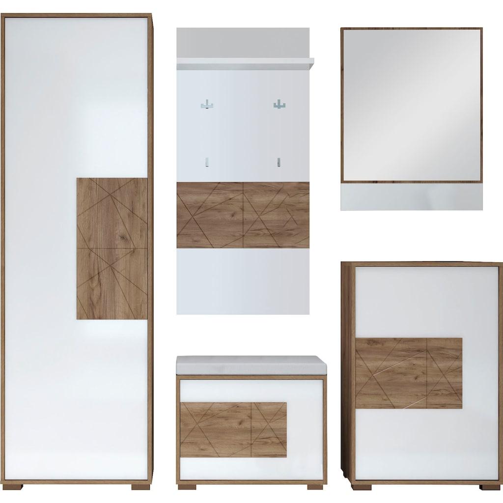 Places of Style Garderoben-Set »Stela«, (Set, 5 tlg.)