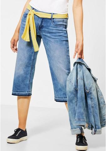 STREET ONE Comfort-fit-Jeans, mit Farbakzent an den Hosenbeinen kaufen
