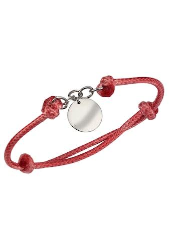 Firetti Armband mit Gravur »Gravur-Anhänger - mit persönlicher, kostenloser Gravur, lachsfarben« kaufen