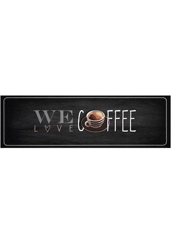 Zala Living Küchenläufer »We love Coffee«, rechteckig, 5 mm Höhe, waschbar kaufen