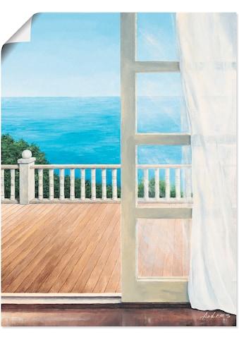 Artland Wandbild »Veranda mit Meerblick«, Fensterblick, (1 St.), in vielen Größen &... kaufen