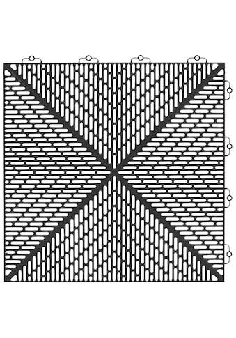 Bergo Flooring Terrassenplatten »Unique Anthrazit«, Kunststofffliesen, einfach... kaufen