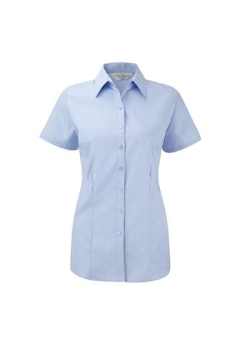 Russell Kurzarmbluse »Damen Bluse / Hemd mit dezentem Fischgrätenmuster, kurzärmlig« kaufen