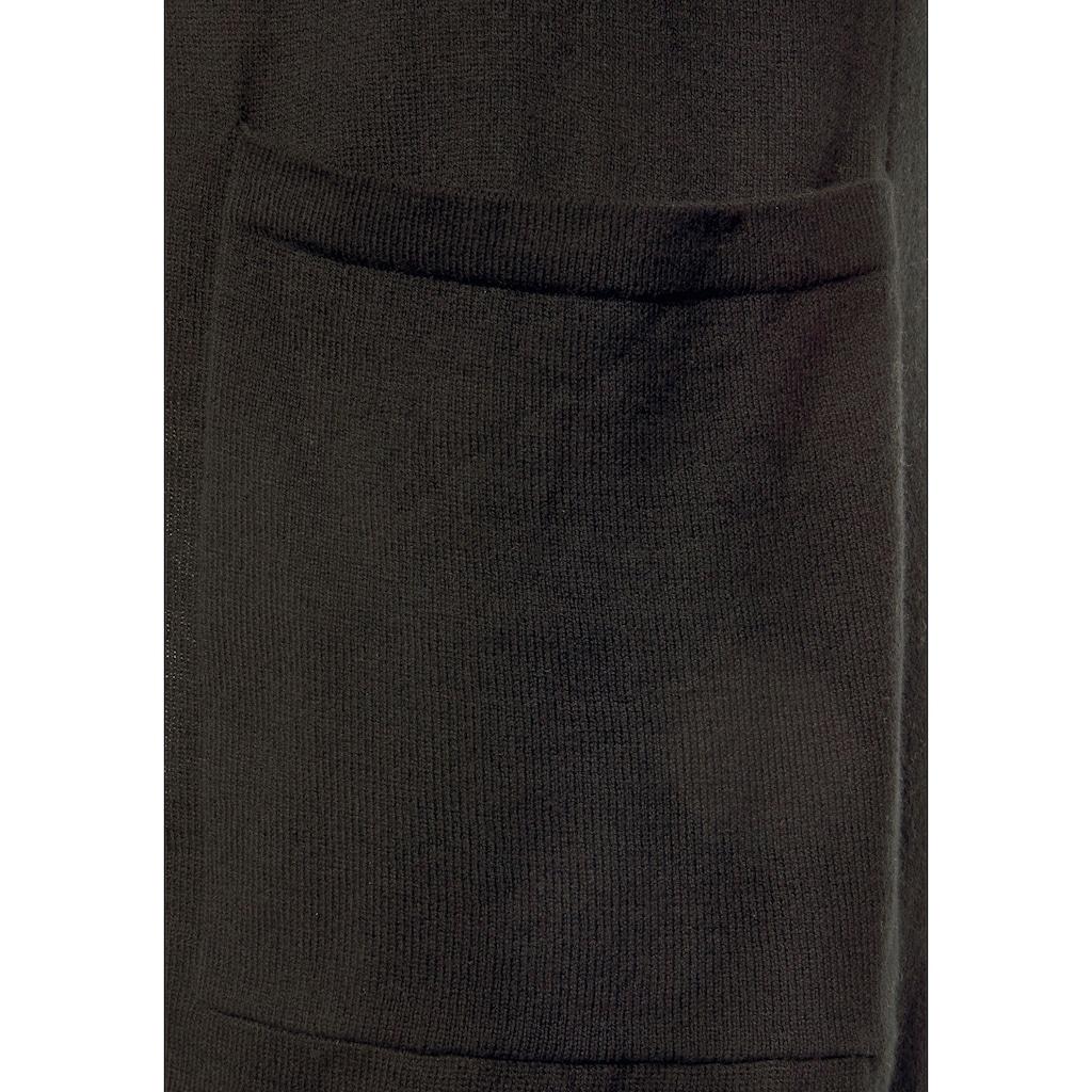 LASCANA Longstrickjacke, mit aufgesetzten Taschen