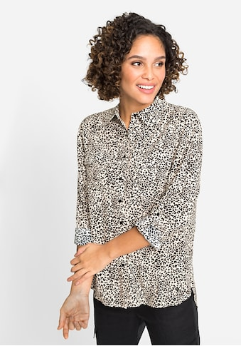 Olsen Langarmbluse, mit Leopardenprint kaufen