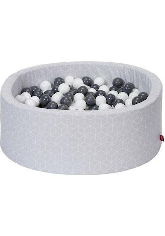 Knorrtoys® Bällebad »Geo, cube grey«, mit 300 Bällen grey/creme; Made in Europe kaufen