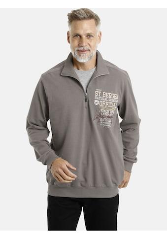 Jan Vanderstorm Sweatshirt »FOLKE«, Pikee-Qualität, Comfort Fit kaufen