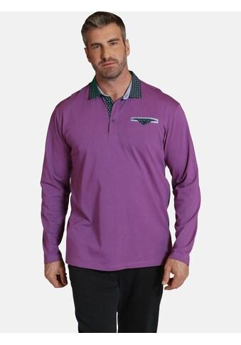 Charles Colby Langarm-Poloshirt »EARL WYETT«, im 80iger Look kaufen