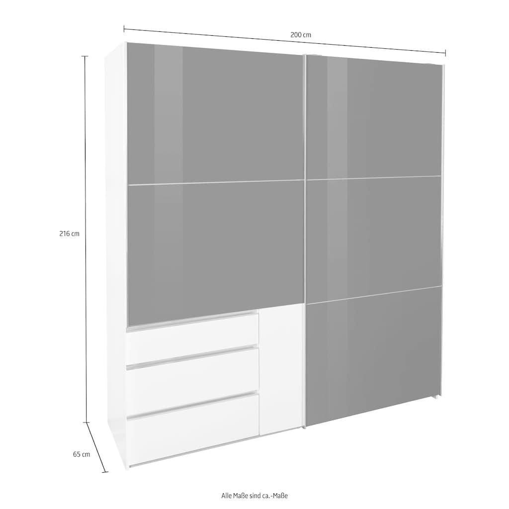Fresh To Go Schwebetürenschrank »Level«, mit Glastüren